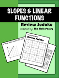 Slopes and Linear Functions - Review Sudoku