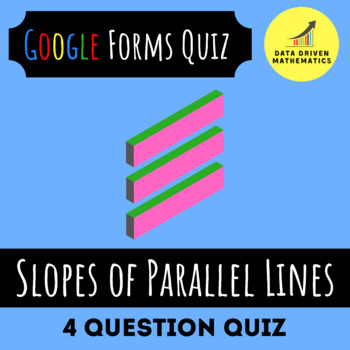 Slopes of Parallel Lines Quick Quiz (in Google Forms & Paper Format)