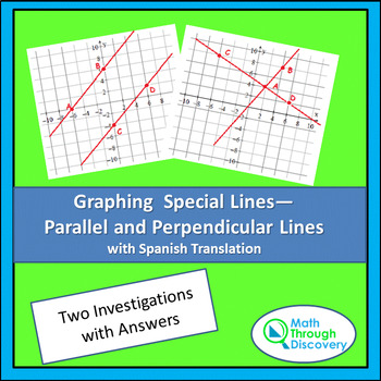 Graphing Special Lines-Parallel and Perpendicular-Two Investigations