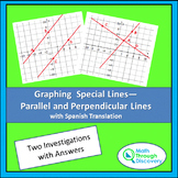 Graphing Special Lines-Parallel and Perpendicular-Two Inve