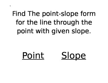 Slopes of lines Carousel Activity