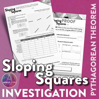 Sloping Squares- Pythagorean theorem task