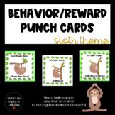 Sloth Behavior Punch Cards