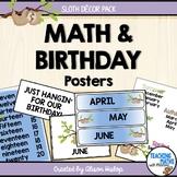 Sloth Birthday Display Classroom Decor Set