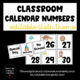 Sloth Calendar Numbers (Editable)
