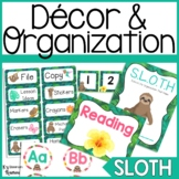 Sloth Classroom Decor & Organization Bundle