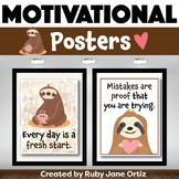 Sloth Classroom Decor - Posters for Back to School Bulleti