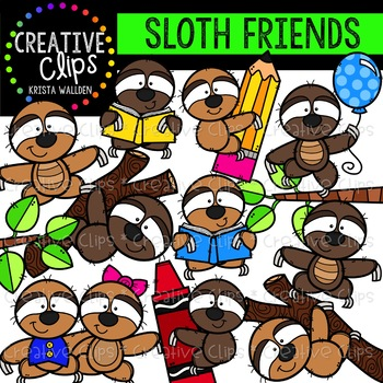 Sloth Clipart {Creative Clips Clipart}