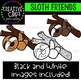 Sloth Clipart {Creative Clips Clipart}