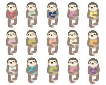 Sloth Clipart Set #019