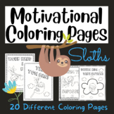 Sloth Coloring Pages (with Motivational Quotes)