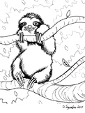 Sloth Coloring Sheet