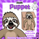 Sloth Craft - Paper Bag Puppet Sloth
