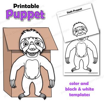 Sloth Craft - Paper Bag Puppet Sloth