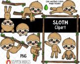 Sloth Cuties {Scrappin Doodles Clipart}