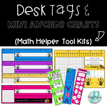 Sloth Desk Tags with Mini Anchor Charts