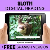 Sloth Reading Comprehension for Google Classroom