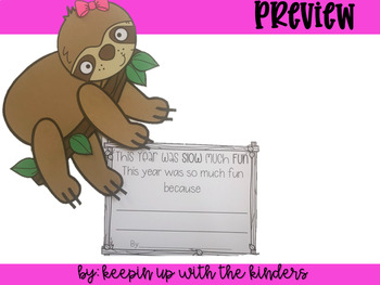 Sloth End of the Year Craft and Door Decor
