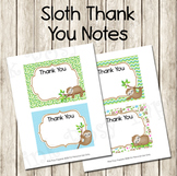 Sloth Flat Thank You Note Cards