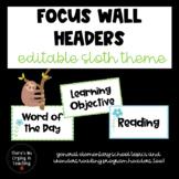 Sloth Focus Wall Headers (includes Wonders)