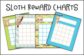 Sloth Incentive Reward Charts