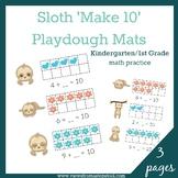 Sloth 'Make 10' Playdough Mats
