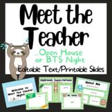 Sloth Meet the Teacher Open House PowerPoint_Virtual_In Pe