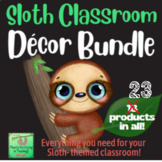 Sloth Mega Classroom Decor Bundle