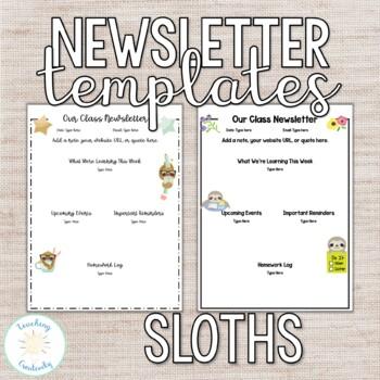 Sloth Newsletter