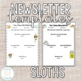 Editable Sloth Newsletter