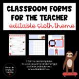 Sloth Newsletters, Forms, and So Much More!