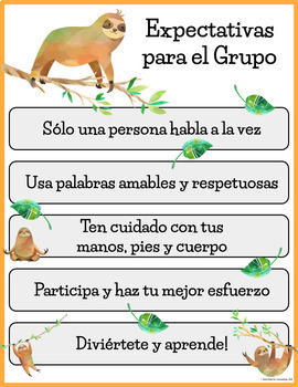 Sloth Theme: Office Counseling Posters - Available in Spanish