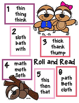 Sloth Roll and Read th, -th