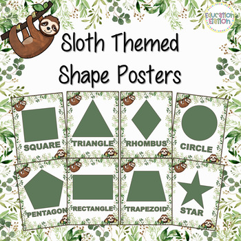 Sloth Shape Posters