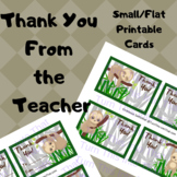 Sloth Thank You Cards - Flat Note Cards - Thank You From The Teacher