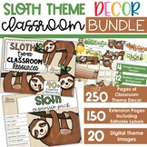 Sloth Theme - Complete Classroom Decor BUNDLE