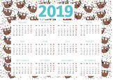 Sloth Themed 2019 Classroom Calendar