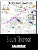 Sloth Themed Classroom Growing Bundle
