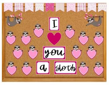 Sloth Valentine Bulletin Board
