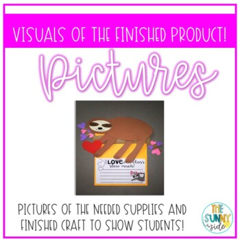Sloth Valentine Bulletin Board Craft/Hallway Display