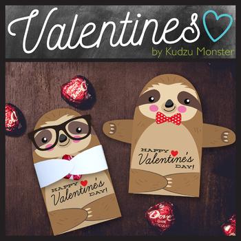 Sloth Valentine Candy Hugger