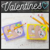 Sloth Valentine Pencil Hugger