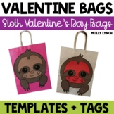 Sloth Valentine's Day Treat Bags