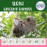 Sloth Welcome Banners