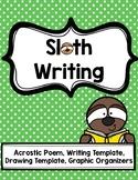 Sloth Writing & Graphic Organizations