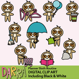 Sloth clip art / planner clipart / Routine task, chores, activities