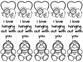 Sloth valentine bookmark