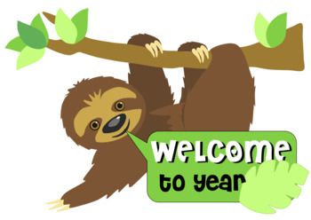 Sloth welcome chart display
