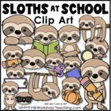 Sloths At School Animal Clip Art