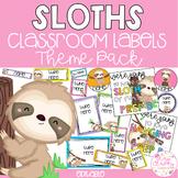 SLOTHS Editable Name Tags, Labels, Posters & Door Display